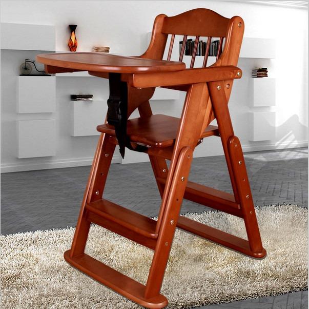 silla para bebe en madera maciza en mercado