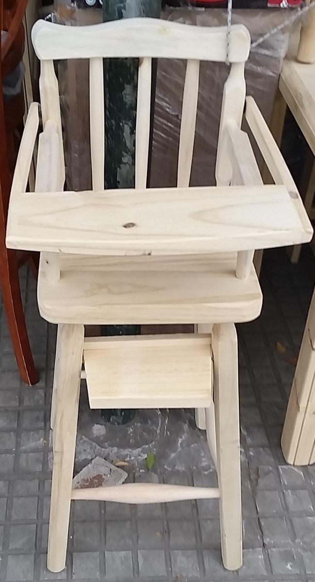 Silla para bebe para comer madera maciza en for Silla de bebe de madera