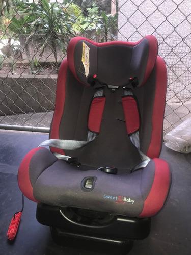silla para carro 2 posiciones sweet baby roja (15 kg) 35 us