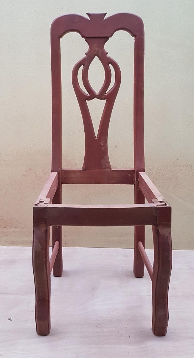 Silla para comedor en madera cedro bs en for Como hacer sillas de madera para comedor