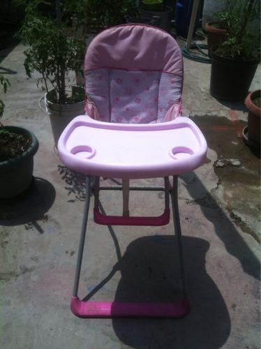 silla para comer bb rosada