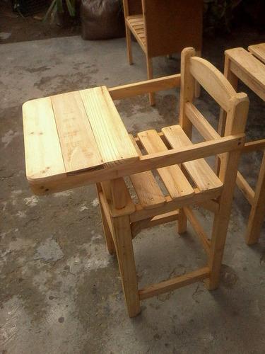 silla para comer de bebe en madera excelente calidad