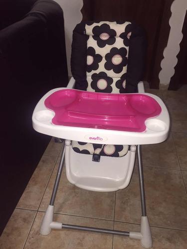 silla para comer de bebe (niña)