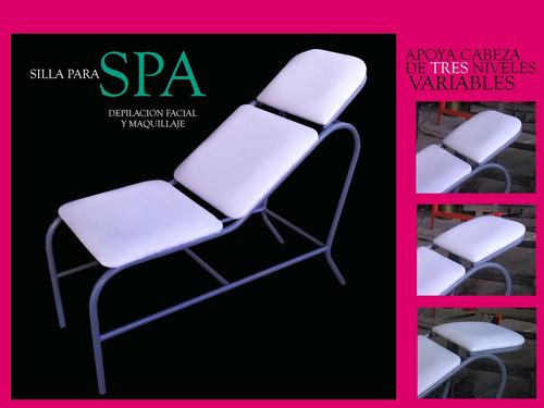 silla para depilación de cejas, maquillaje, peluquería, spa.