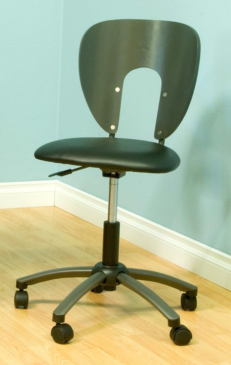 Silla para escritorio ergonomica elegante color gris for Sillas de escritorio comodas