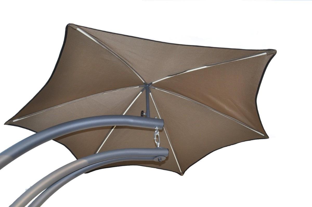 Silla para jardin patio exterior con sombrilla hm4 for Sillas para jardin exterior