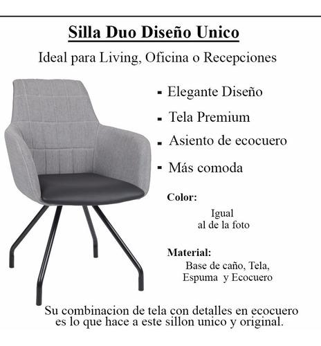 silla para mesa de comedor living tela ecocuero moderna