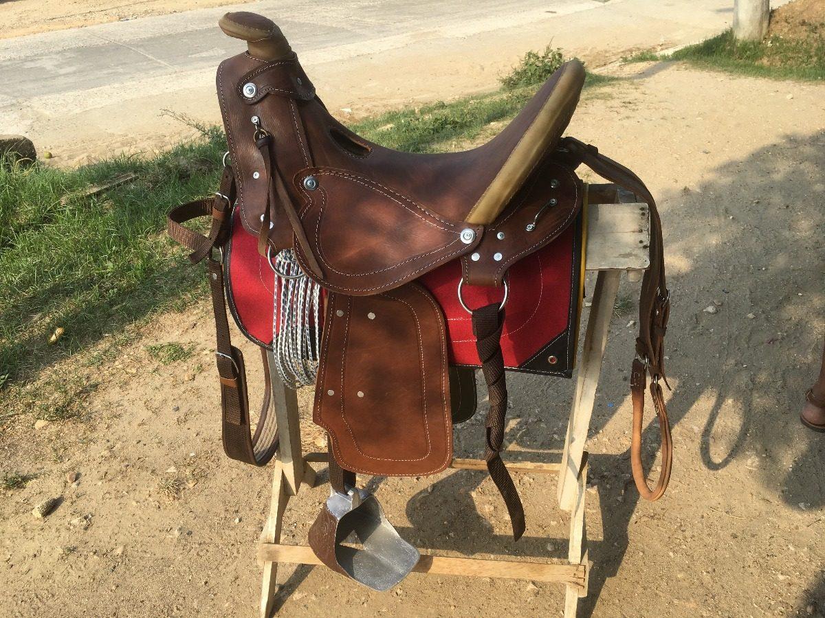 silla para montar caballo 100 cuero completa y aperada