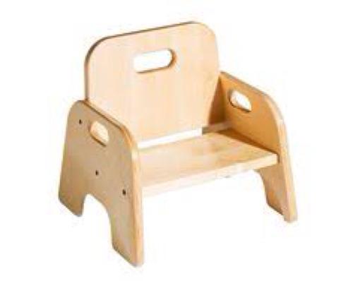 Silla para ni o infantil caminadora montessori de madera for Sillas para ninos de madera
