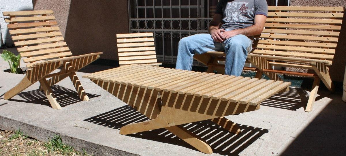 Silla para ni o mueble plegable madera jardin o interiores en mercado libre - Muebles de jardin en madera ...