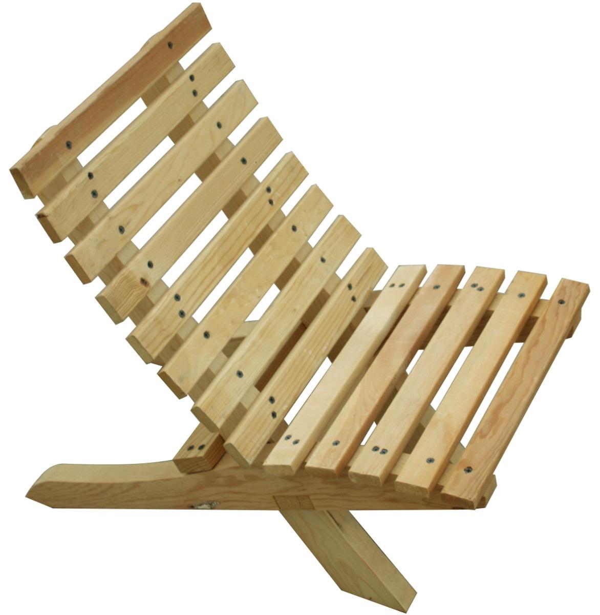 Silla Para Niño Mueble Plegable Madera Jardin O Interiores - $ 99.00 ...