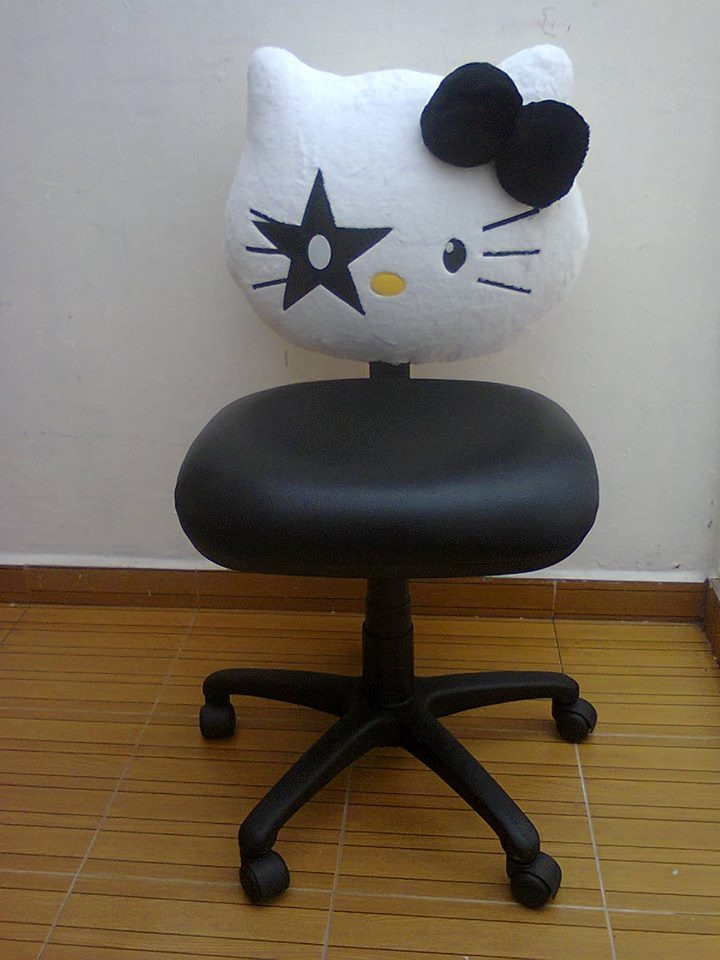Silla para oficina hello kitty 1 en mercado libre for Costo de sillas para oficina
