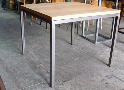 Silla para restaurante tubular cafeteria bar for Bar de madera y fierro