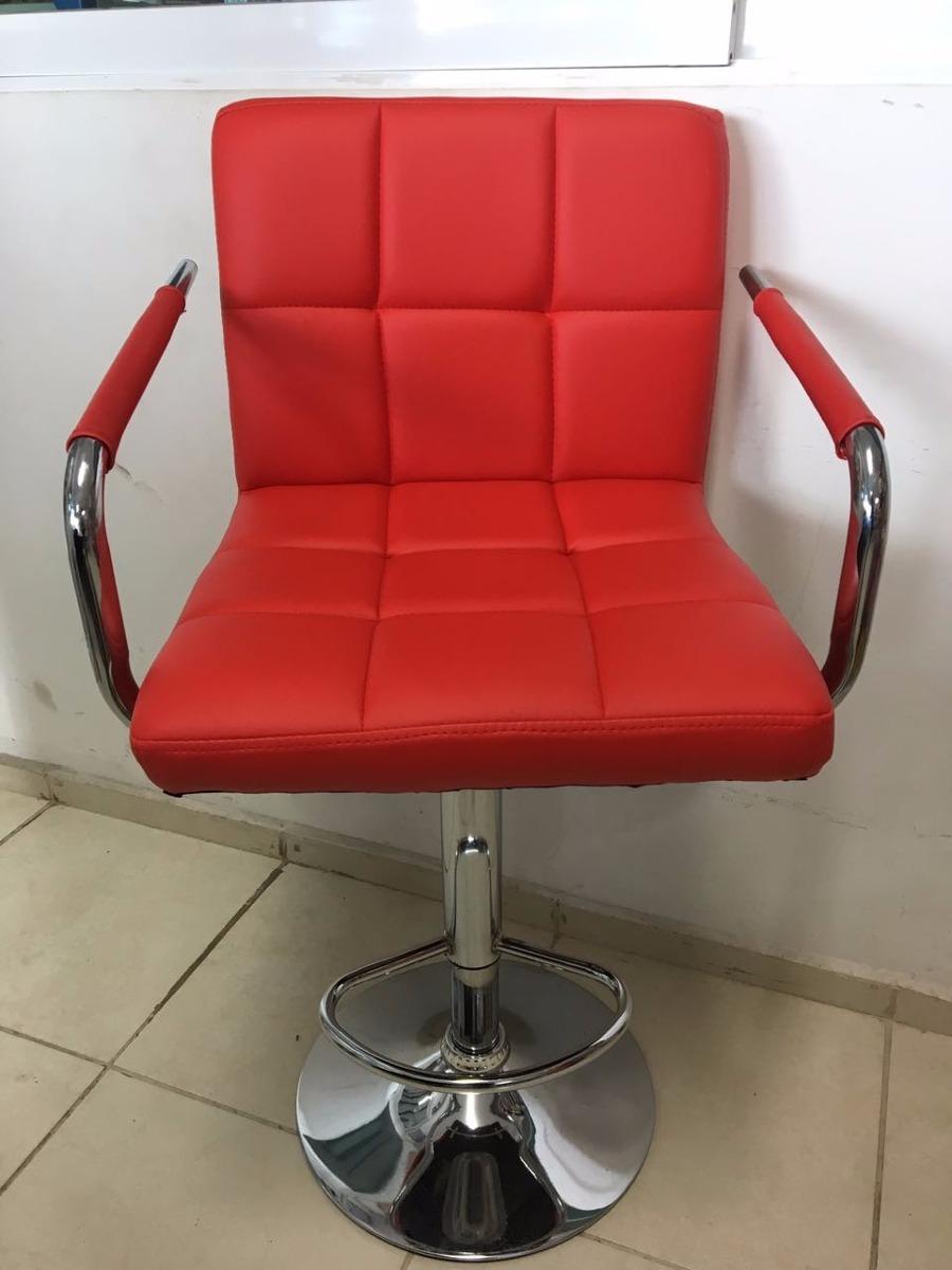 Silla Para Salón De Belleza Estética *color Rojo - $ 1,799.00 en ...