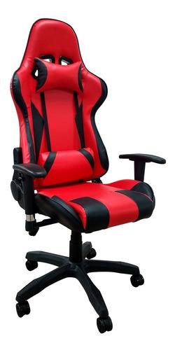 silla pc gamer 06 rojo c/2 almohadones envio gratis 6 cuotas