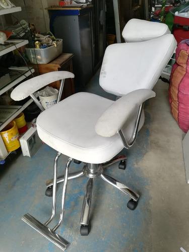 silla peluqueria reclinable giratoria altura graduable salon