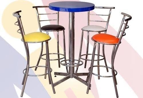 silla periquera acabado cromado calibre 20