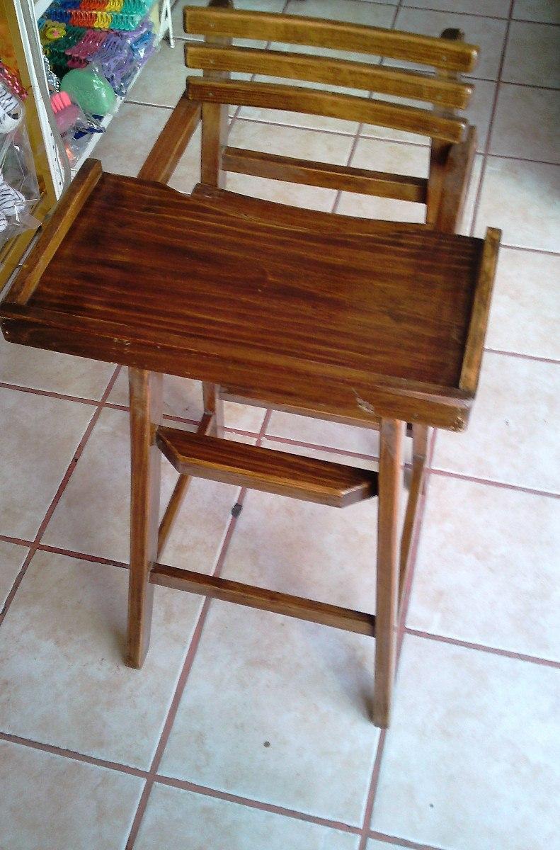 Silla periquera de madera para bebes y ni os peque os for Silla de bebe de madera
