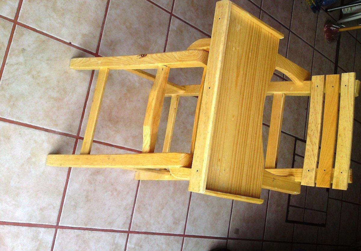 Silla periquera de madera para bebes y ni os peque os for Silla de seguridad para bebes