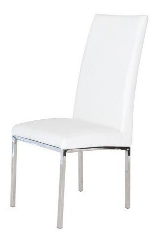 silla piel alexa blanca këssa muebles.