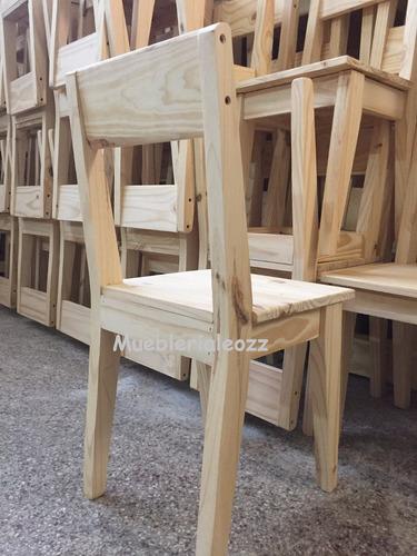 silla pino retro vintage maciza reforzada (no envios gratis)