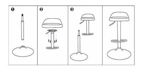 silla piso bar nordic altura regulable taburete