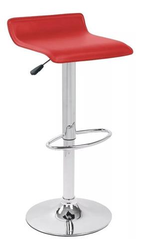 silla piso taburete bar rojo eco cuero  41788 / fernapet