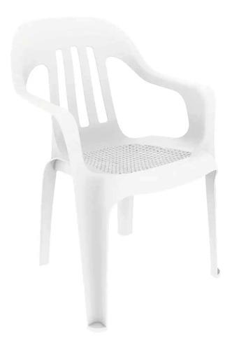 silla plastica apilable garden life pasadena f-8600 blanca