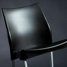 silla plástica apilable jardin quincho malba original