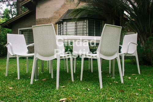 silla plastica apilable reforzadas armony