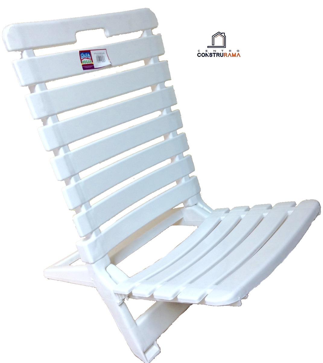 Silla Plastica Blanca Plegable Playera Multiuso Hogar Alfa qzVGLUMpS