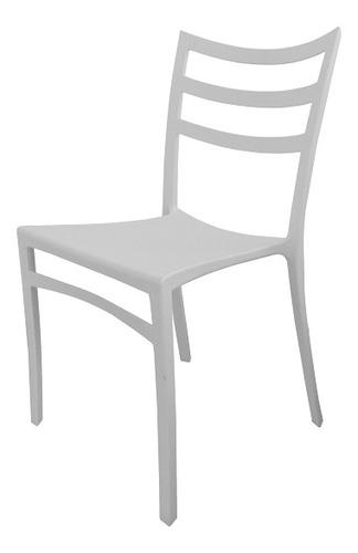 silla plástica comedor apilable reforzada diseño moderna  zo