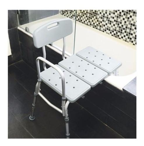 silla plástica de ducha para transferir con espaldar. nueva!