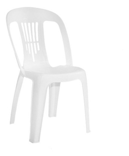 silla plastica de jardin garden life antonella blanco