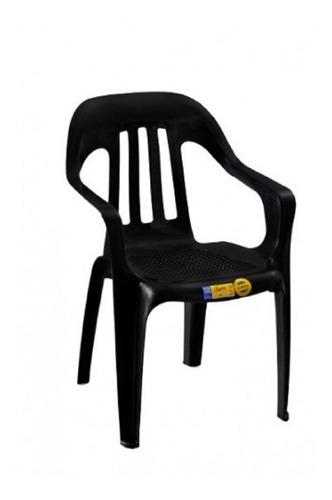 silla plastica fiesta negra silla voss 2000 rejilla