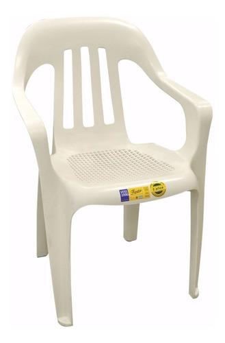 silla plastica fiesta voss 2000 con garantia 5 años blanca