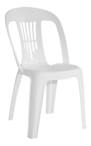 silla plastica garden life antonela blanca