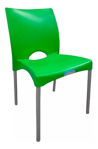 silla plastica garden life boston apilable verde