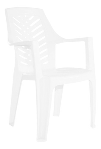 silla plastica garden life marbella f8800 apilable blanca