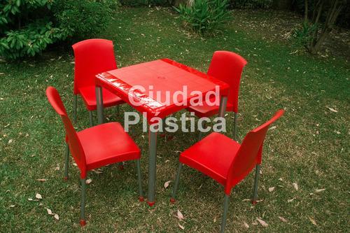 silla plastica modelo malba apilable oficina comedor