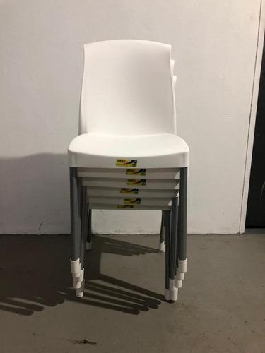 silla plastica pata de  caño envio gratis