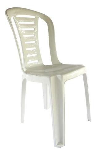 silla plastica reforzada apilable reina