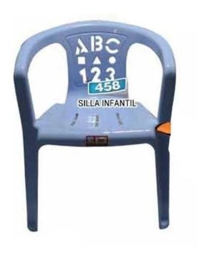 silla plásticas infantil abc rosado marca alfa cocina