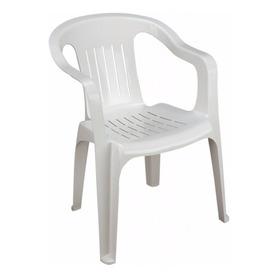 Silla Plastico Plastica Apilable Blanco Mas Resistente 3 Kgs