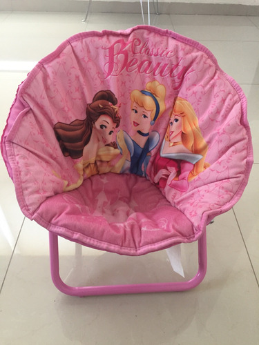 silla platillo redonda plegable niñas princesas
