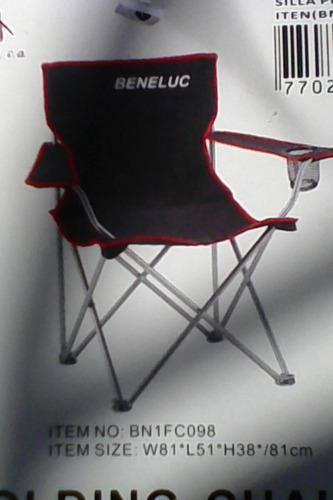 silla playera con portavaso
