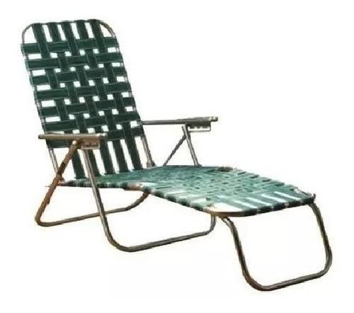 silla playera extensión 4 posiciones aluminio nylon ecology