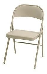 silla plegable acero trabajo pesado