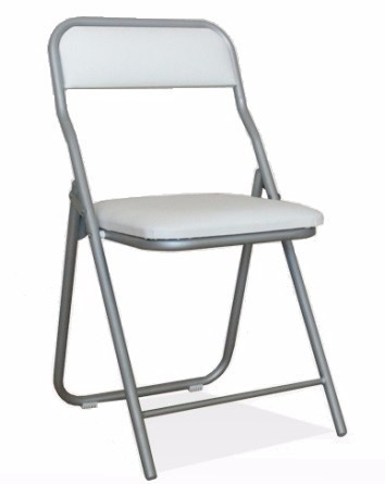 silla plegable asiento y respaldo tapizados kromo-s