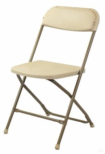 silla plegable blanca